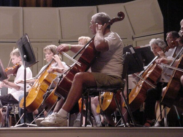 Another view of the Cello Section